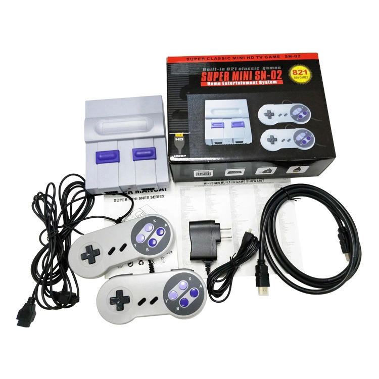 2020 Super Classic Mini Game Console Built-in 821 TV Video Games With Dual Controllers (UK, AU, EU, US Plug)