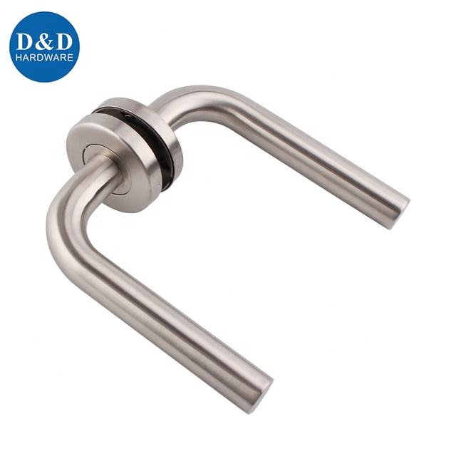 CE EN 1906 Euro style Hollow Commerical grade Stainless steel lever door handle for wooden metal steel door