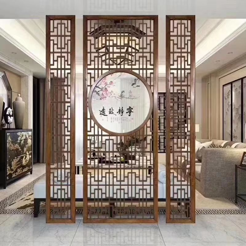 Customized 304 201 Laser Cut Stainless Steel Room Divider Screen Partition 4 Panel