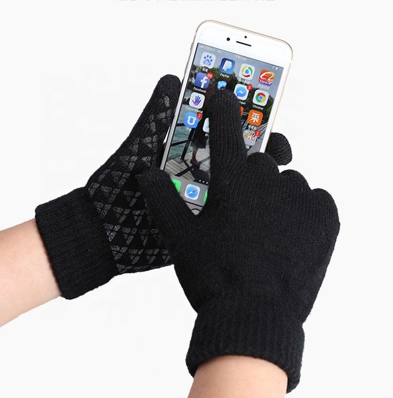 Fashion Unisex Men Women Anti Slip Thermal Cycling Touch Screen Gloves