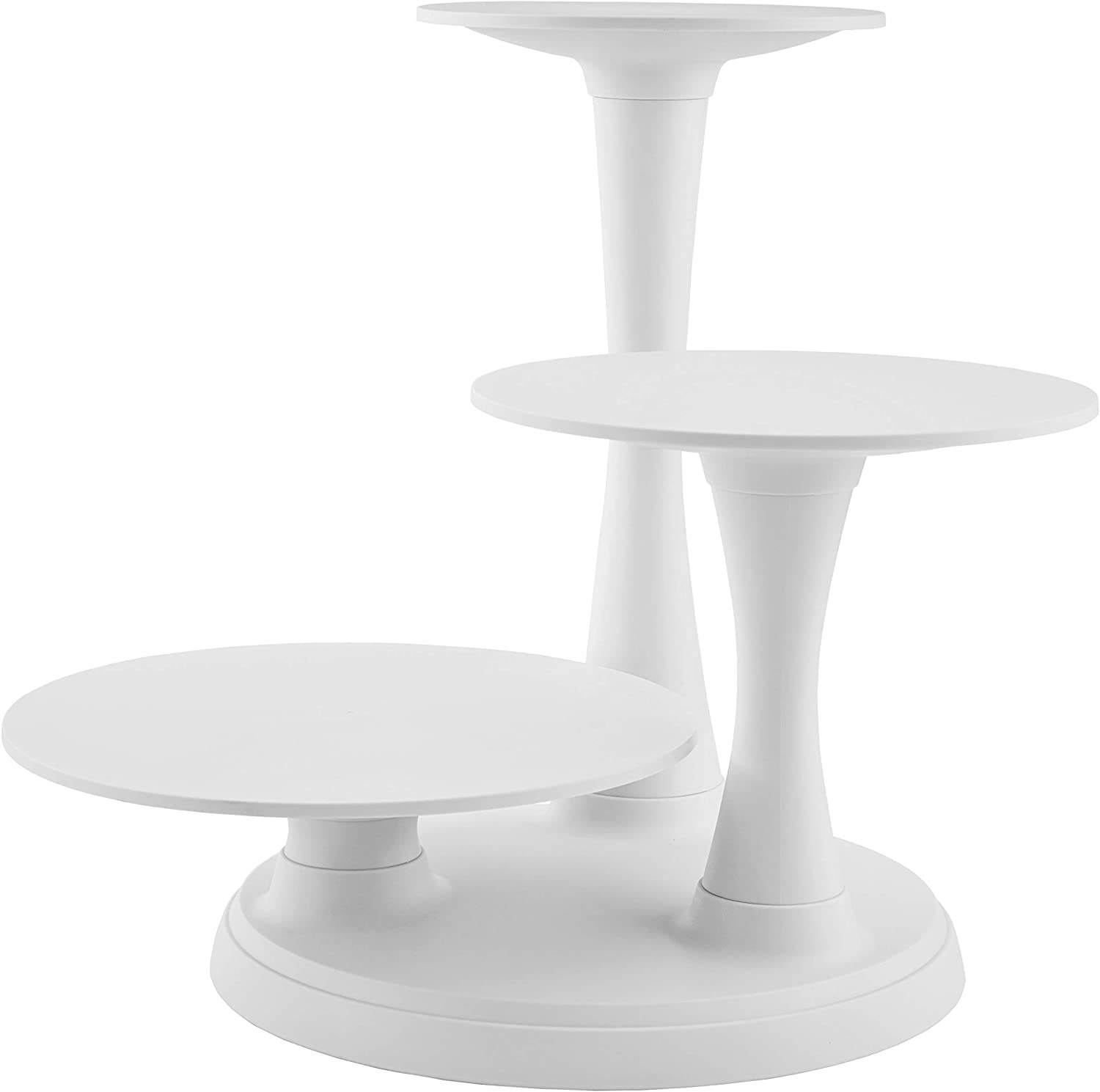 3 Tier Pillar Style Cake and Dessert Stand Great for Displaying Cakes