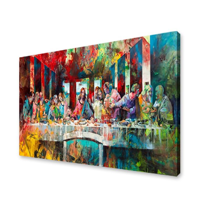 Famous Artwork Oil Painting The Last Supper Watercolour Canvas Wall Painting For Home Goods Decoration
