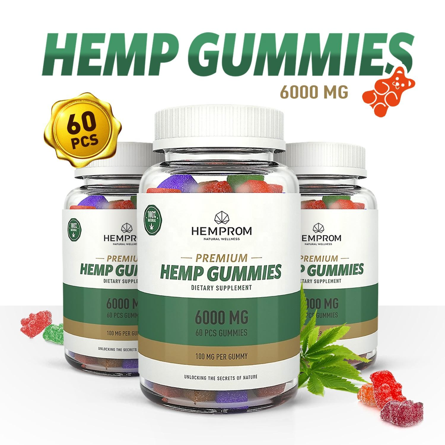 OEM Organic Hemp Extract CBD Gummies Bears For Pain Relief