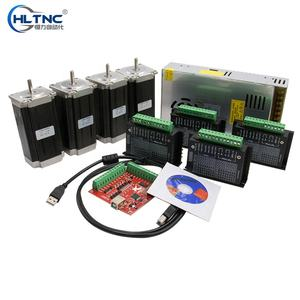 Overzeese Magazijn Ru Es Cnc Router 4 Axis Kit 4Pcs TB6600 Stappenmotor Driver + 4 Stuks Nema 23 425 Oz Motor + 350W Voeding