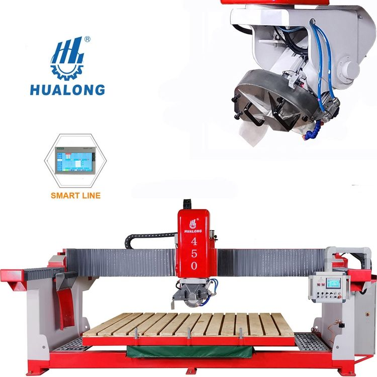 Hualong HLSQ-450 automatic granite marble stone bridge saw stone cutting machine