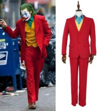 2019DC Movie Joker Jacques Phoenix Clown Cosplay Costume Set