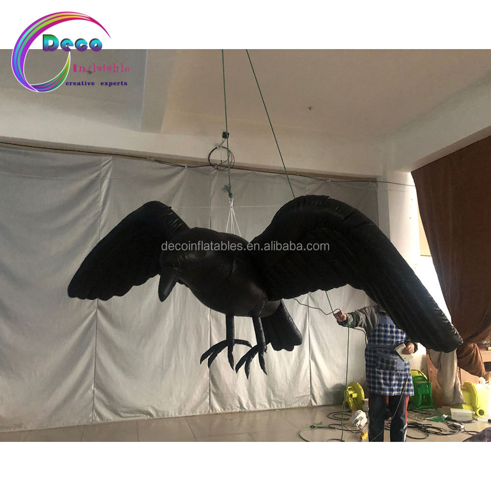 Inflatable Đen Crow Inflatable Chim Đen