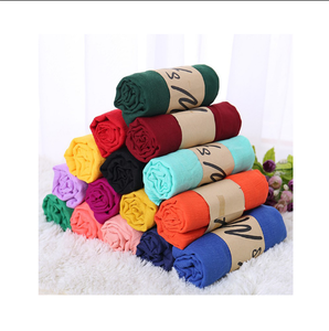 New cotton and linen scarves female national wind scarf shawl gift stalls selling hot monochrome wild scarves