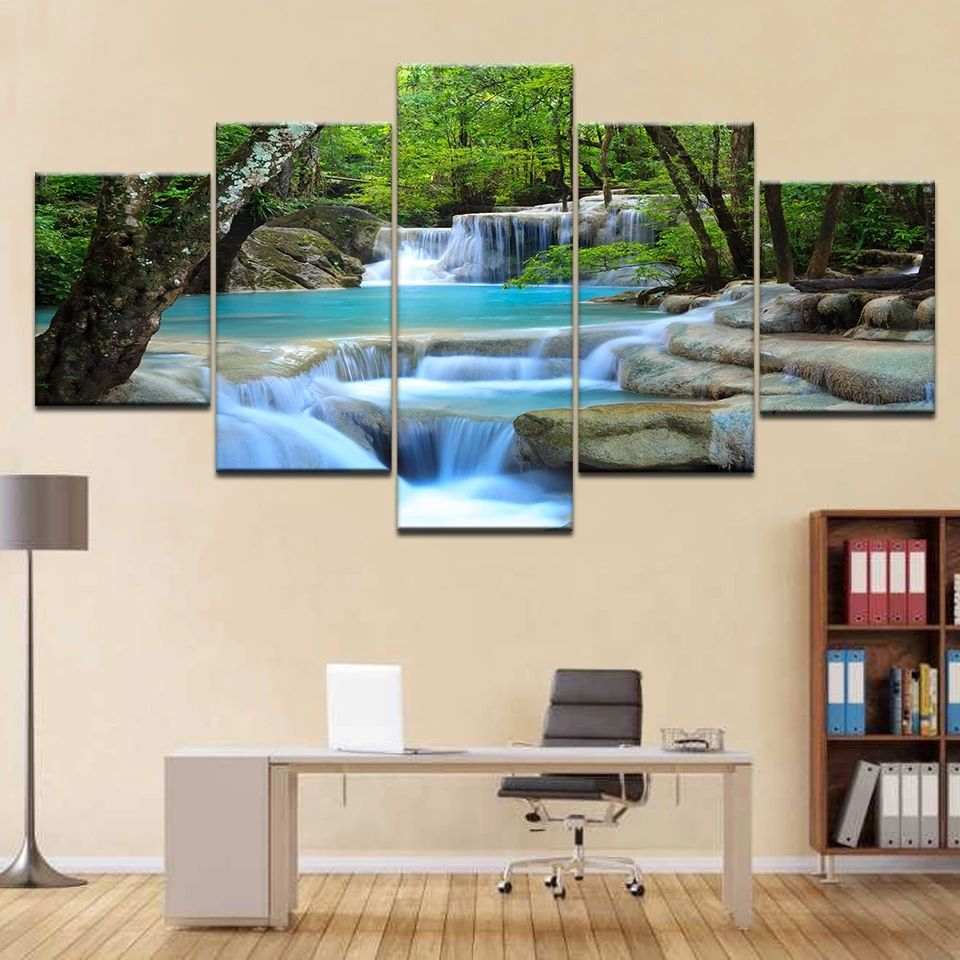 Modern Art Paintings Seascape Oil Painting Posters And Prints Home Decor Waterproof Wallpaper Beautiful Scenery China Wholesale