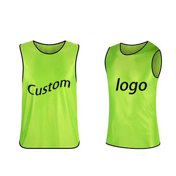 Professional customization Cheap Custom Sports Mesh Pennies Basketball Football Scrimmage Training Vests Reversible Soccer Bibs
