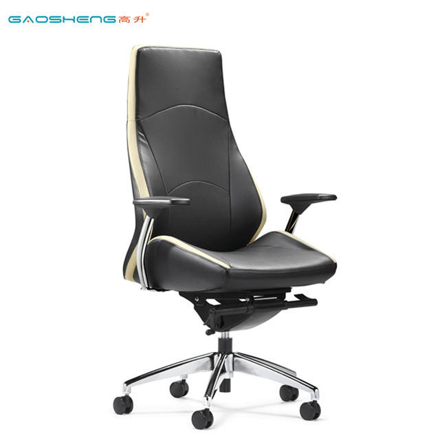 wholesale contemporary commercial ergonomic style soft armrest padded black PU leather board room chairs
