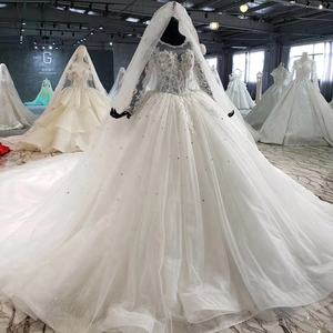 Jancember AHTL1005 luxury long sleeve sequin beaded sexy designer real wedding dresses