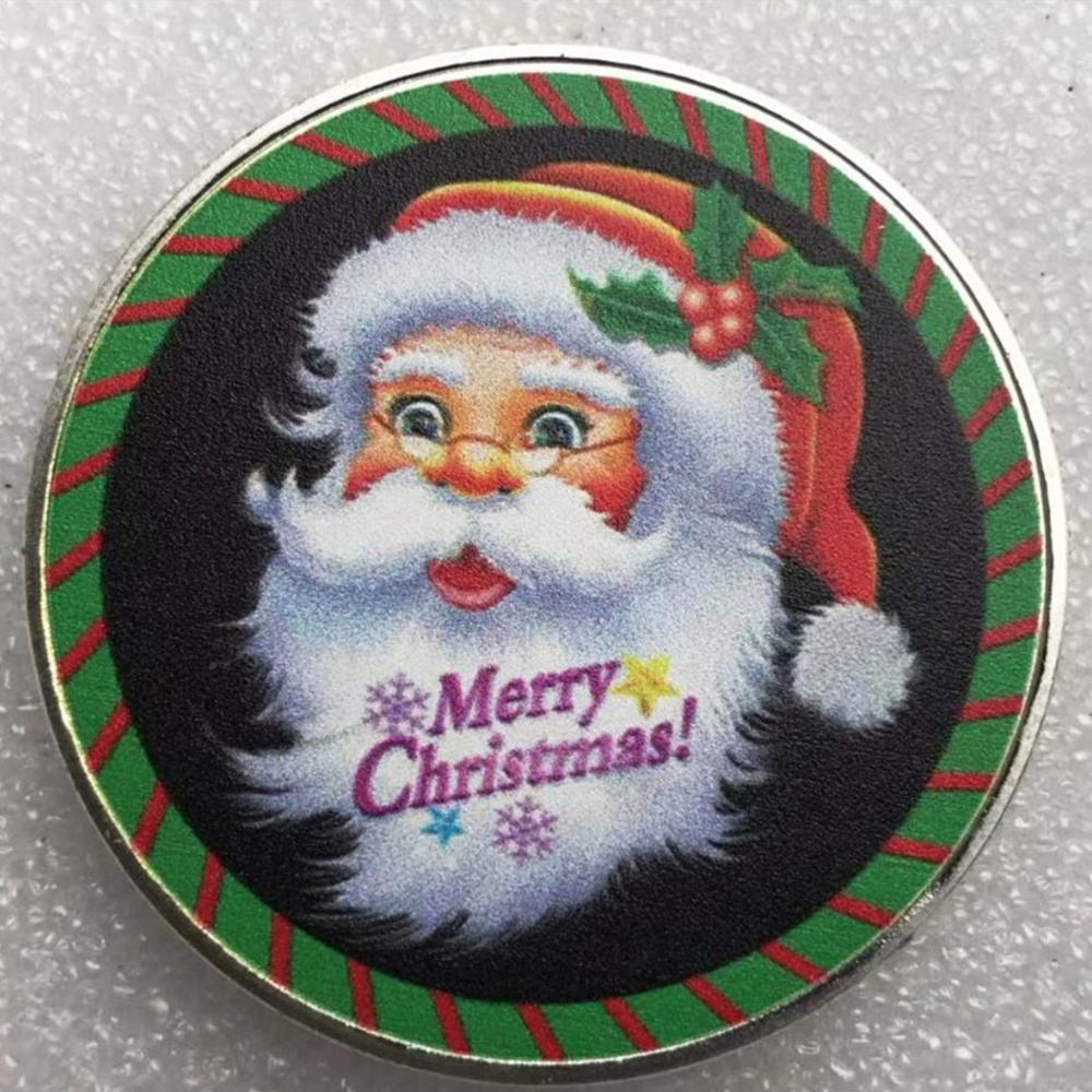 Factory Cheap Custom New Wishing Coin Metal Merry Christmas Souvenir Coins