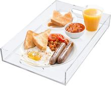 High quality acrylic food tray with handle suitable for breakfast coffee table food or decorative display