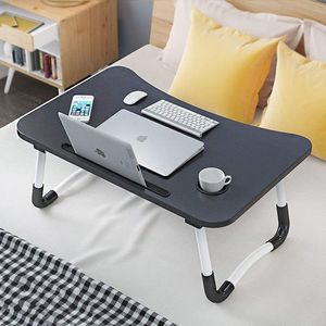 Portable Bed Tray Tabel Membaca Notebook Pemegang Laptop Stand Dengan Foldable Kaki & Cup Slot