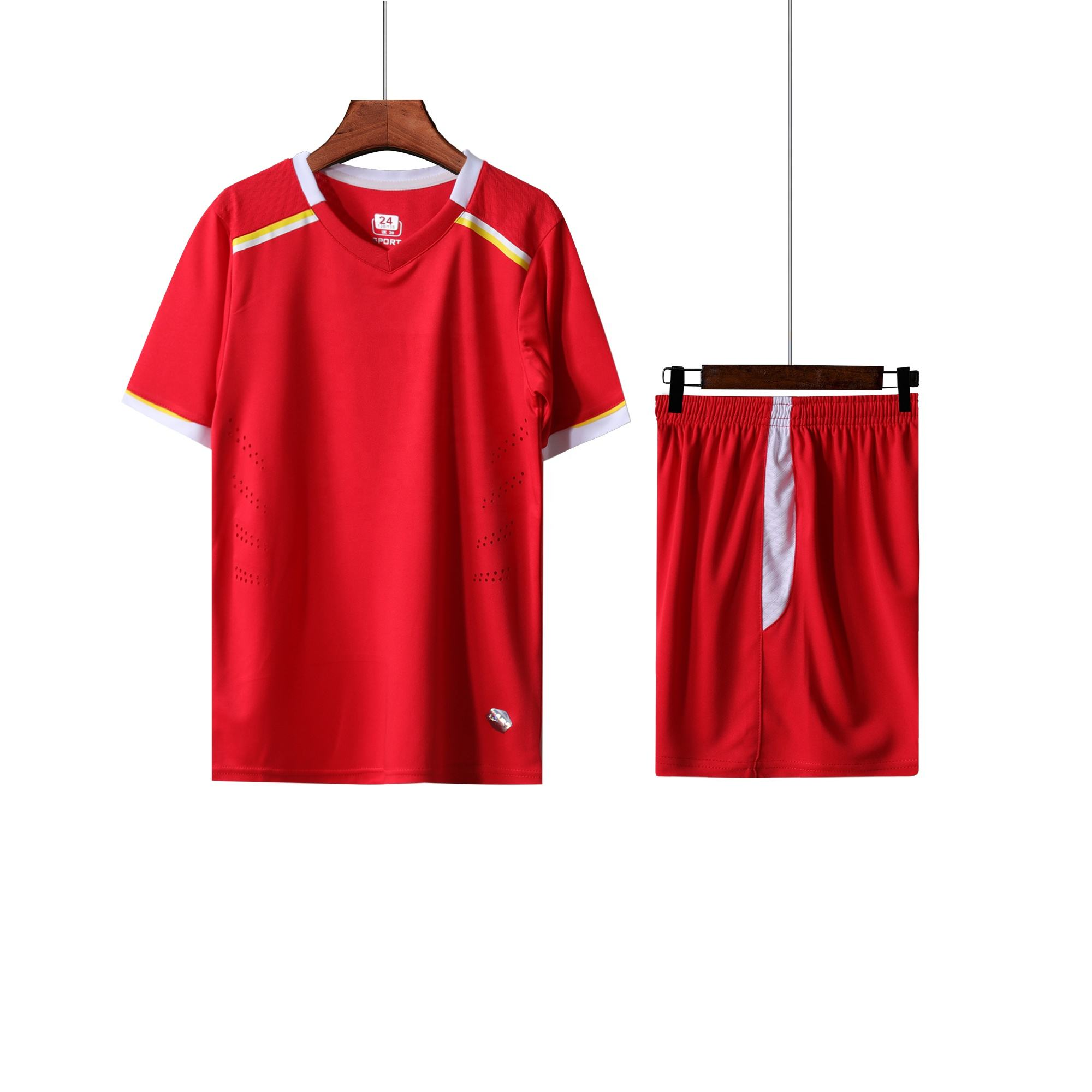 Sublimated custom soccer jersey set uniform football shirt kits for young children