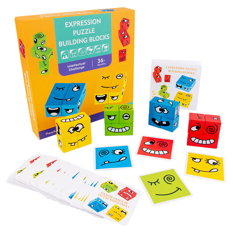 Intelligence Board Game Hand-eye Coordination Toy Wooden Building Blocks For Kids