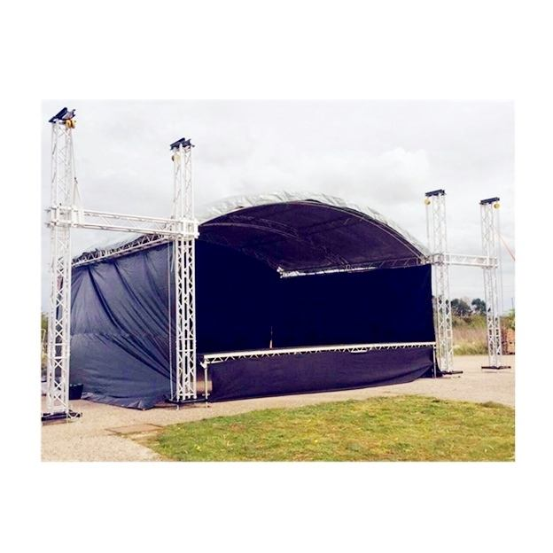 Econimic mini outdoor cable fashion dj truss stall system with pvc roof