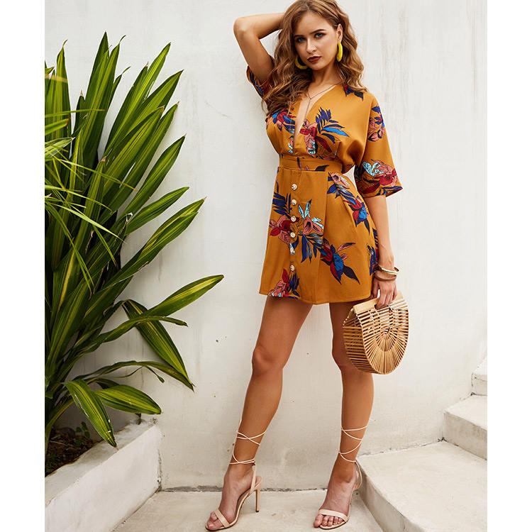 Поставщиком с цветочным принтом надувной приятная Женская одежда, лето 2020 Женская одежда короткие платья для