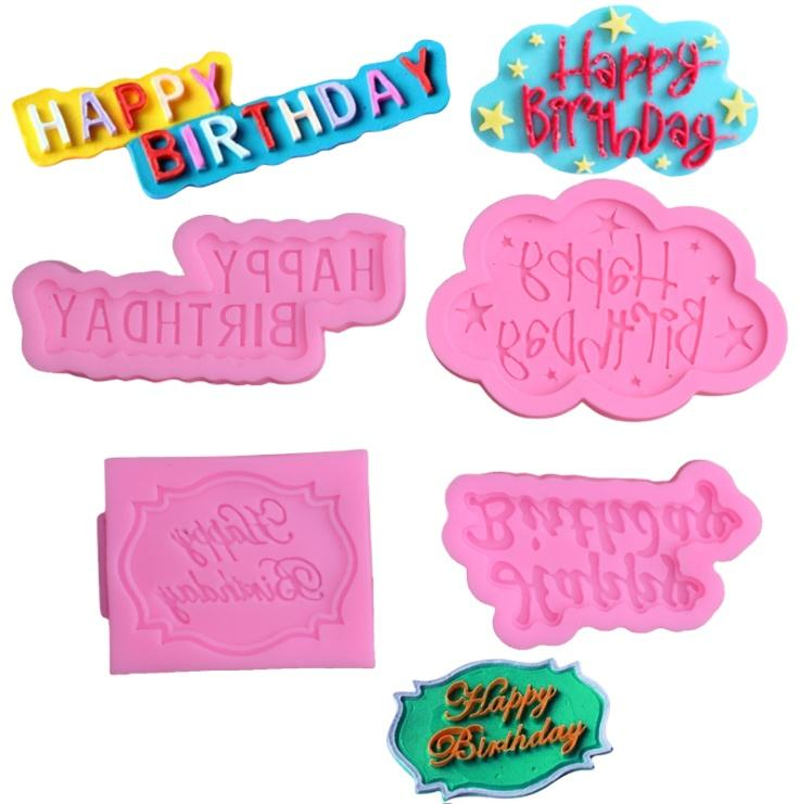 3D Letter Fondant Tools Cake- Decoration Happy Birthday Alphabet Mold - Decorative Silicone Mold