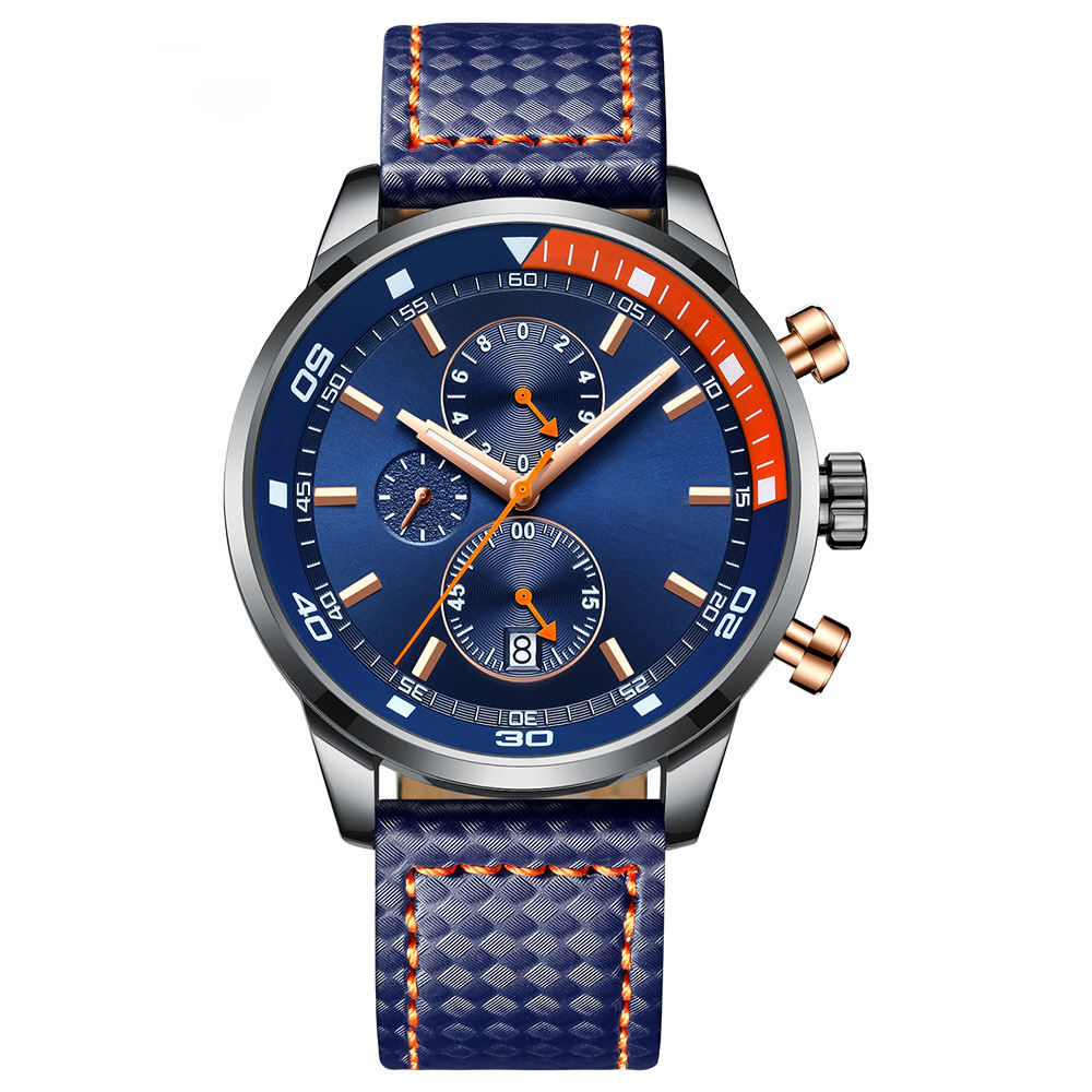 Waterproof Chronograph Analog Man Quartz Watch