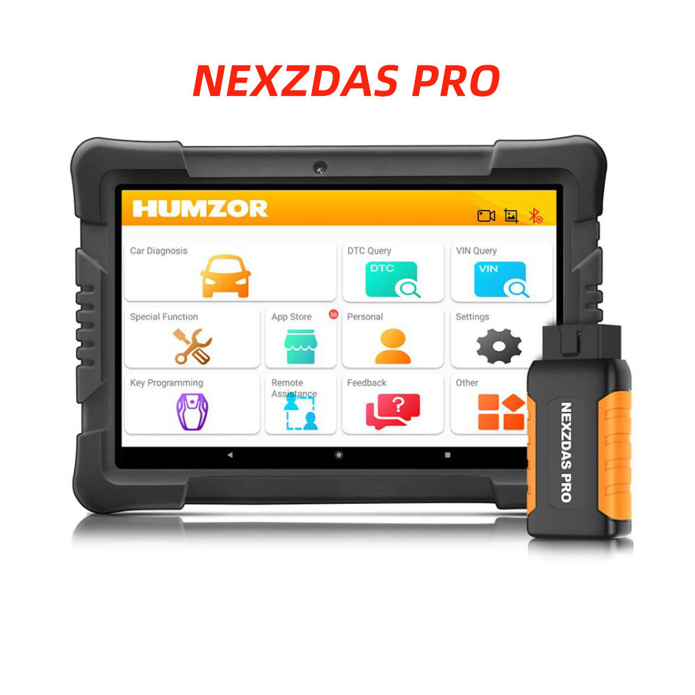 Latest Humzor NexzDAS Pro with Tablet Full System Diagnostic Tool Professional OBD2 Scanner