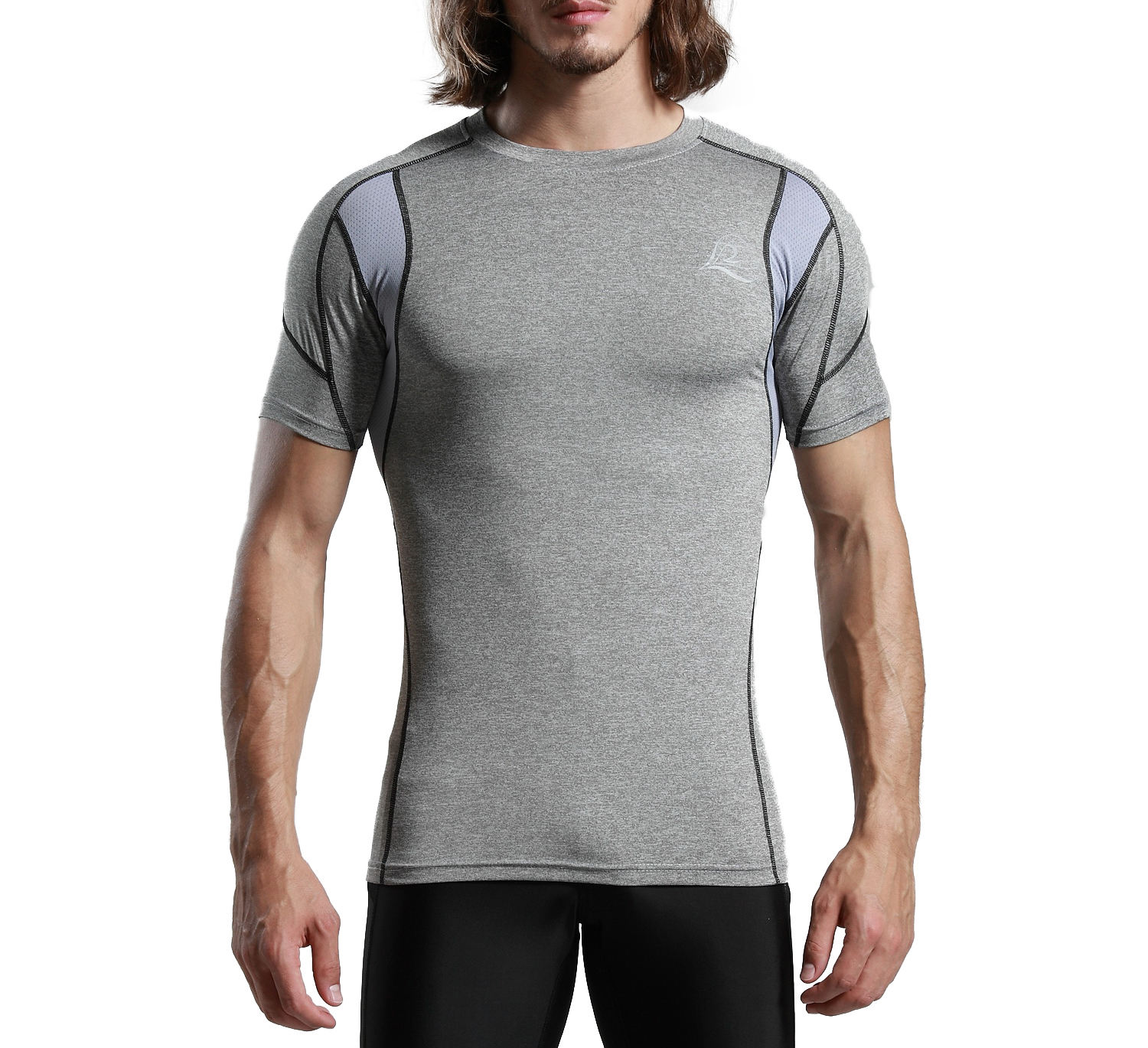 Wholesale Dry Fit Breathable Quick Dry Coolmax Men Compression Shirts