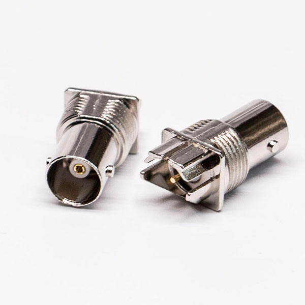 Nickle Plated BNC Jack connector voor PCB Mount Edge Mount