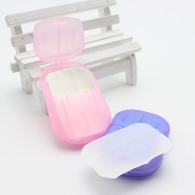 Disposable Mini Boxed Travel Hand Sheets Scent Paper Wrapped Soap Foaming Portable Outdoors Soap Paper
