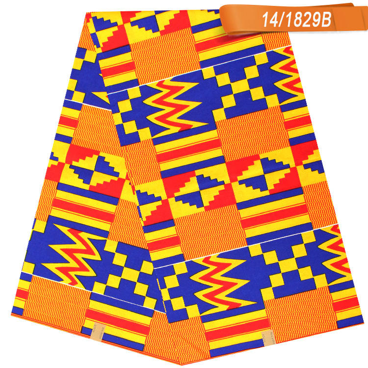Nigerian Kente Styles and Designs 100% Cotton African Wax Prints Real Wax Kente Fabric