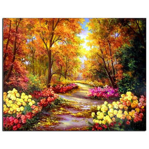 Autumn Landscape Flowers Art Factory Price Digital Painting Print Canvas Wall Art
