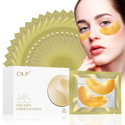 24K Golden Collagen Eye Pads Gel Eye Mask for Puffiness Anti Aging Removing Bags Deep Hydration Relieve Dark Circle Eye Pad