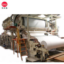 Paper pulp tissue paper making jumbo roll machine price