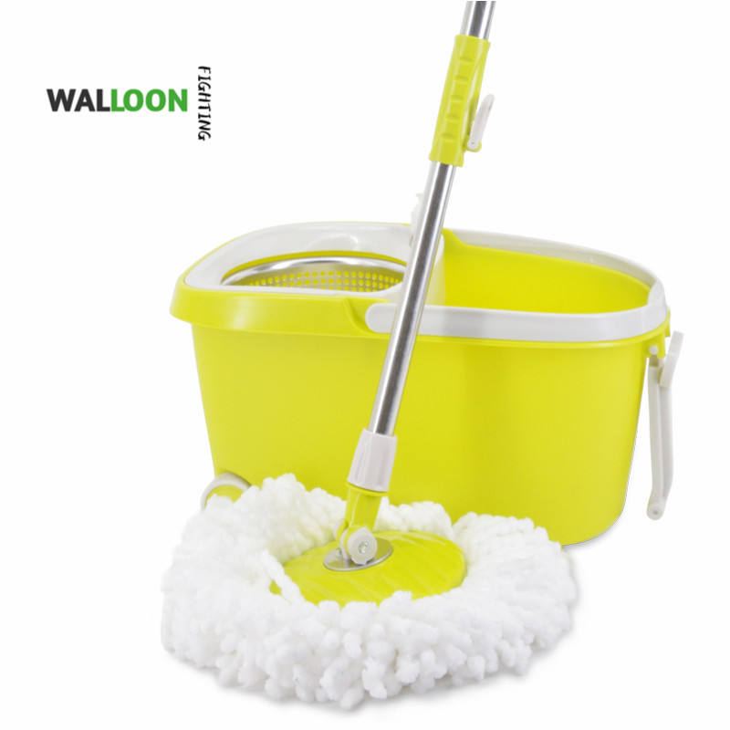 Rotating Mop And Bucket Set Hand Free Magic Spin Floor Mop Cleaning