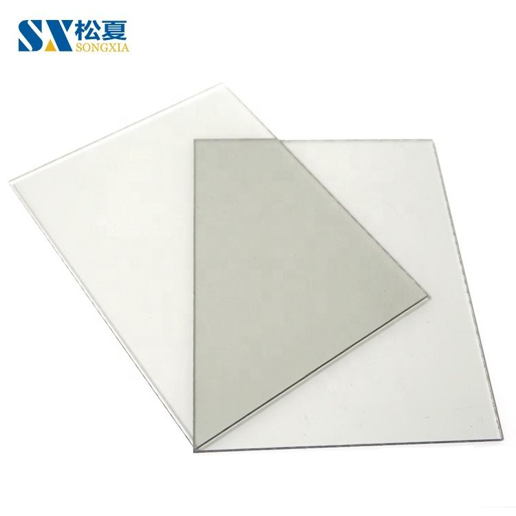 Clear PC Roofing Plank Plastics Panel Solid Flat Polycarbonate Sheet