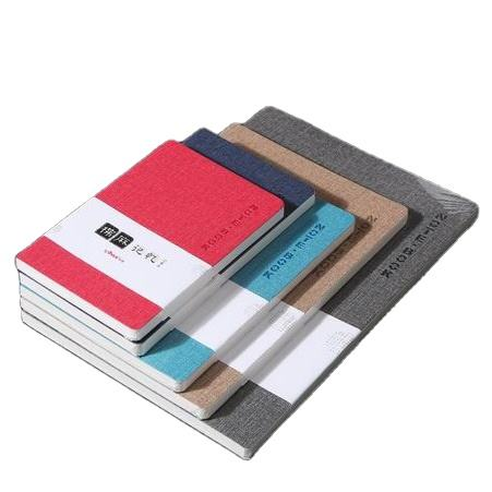 Cheap A5 linen PU leather soft cover custom notebook