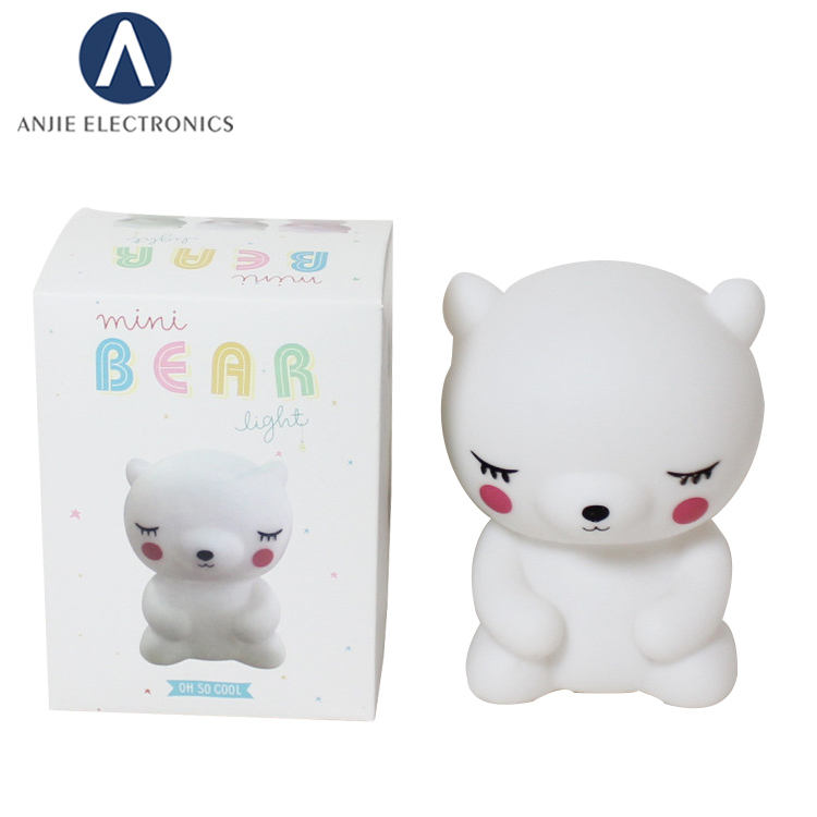 ANJIE INS Factory price cute Cartoon bed side led night light toy