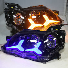 For TY REIZ / Mark X LED Head Light Angel Eyes Projector Lens 2005-09 year LF