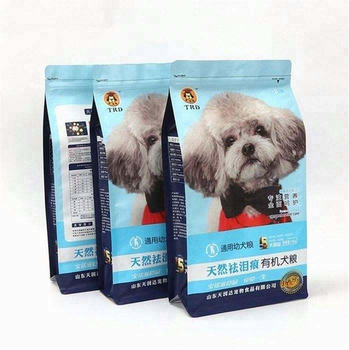 custom stand up pouch pet food bag for young rabbit pet food bag package