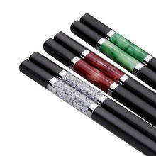 High quality premium reusable personalized marble luxury alloy chopsticks wedding gift favors