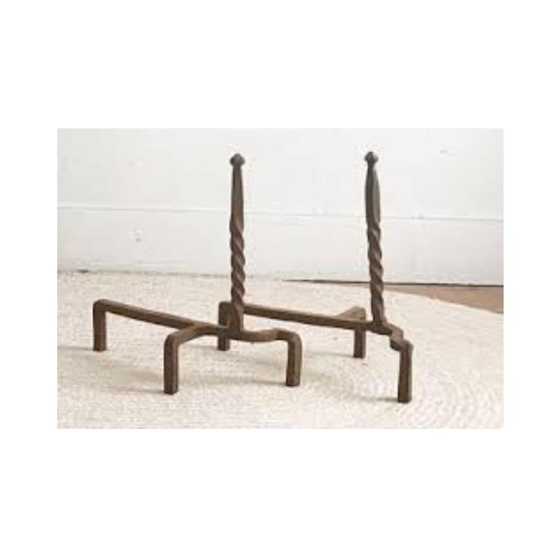 Wrought Iron Decorative Andirons