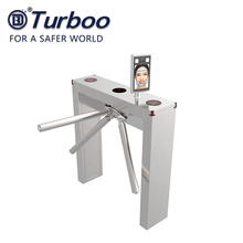 High security 3 arm access control tripod turnstile barrier gate RFID fingerprint face recognition for bus and station