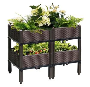 Outdoor Elevated Bed Raised Garden Bed Plant Stand Garden Planter Flower Pot Stand Display Shelf