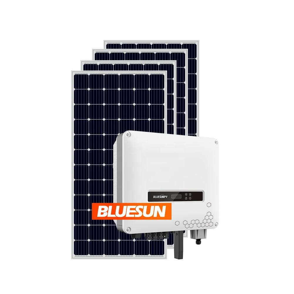 Hot Sale Bluesun home solar systems complete 10kw 15kw 20kw on grid solar panel system 10kw home grid tie solar systems 40kw