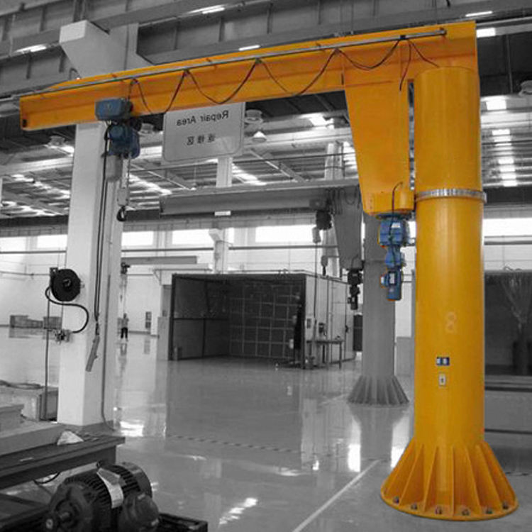Foundation boom crane 1 ton floor mounted jib crane