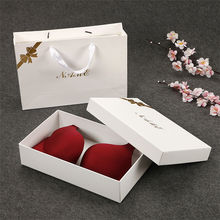 Custom Paper Black Lingerie Packaging Boxes Sexy Burgendypackaging Original Gift Box With Ribbon
