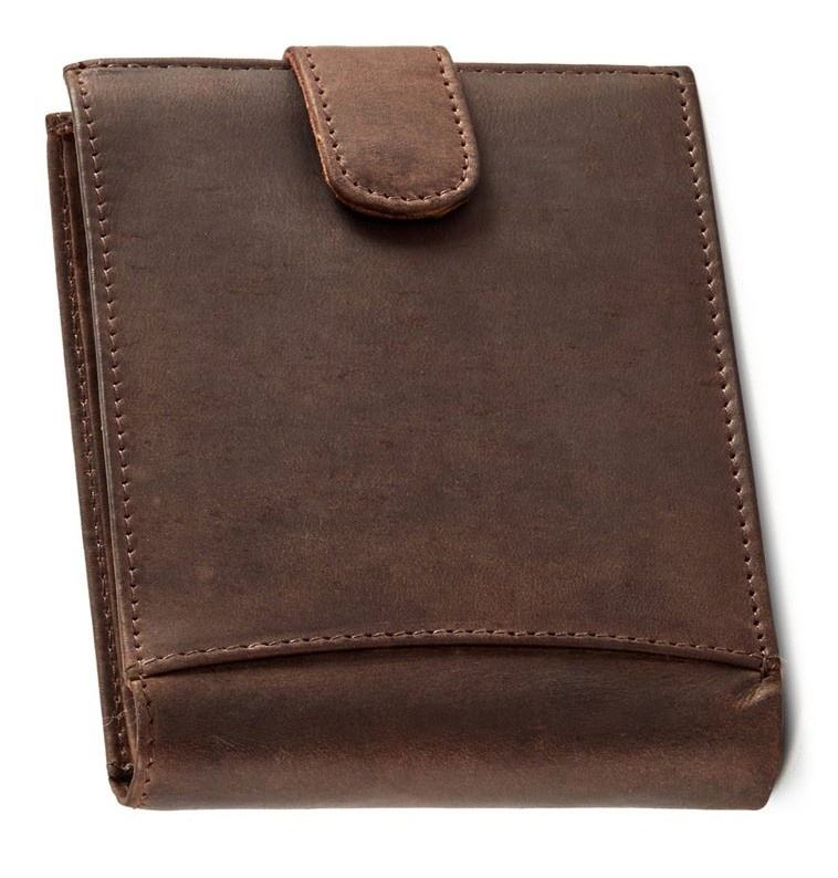 Durable Brown Leather small pocket wallet /OEM Men's Comfortable Money Purse