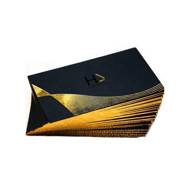 eco recycled cotton paper luxury fashion gilding silver edge gold foil stamping gold plated business cards