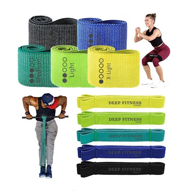 Fabric Pull Up Assist Bands, hip circle non slip booty bands, custom printed resistance bands