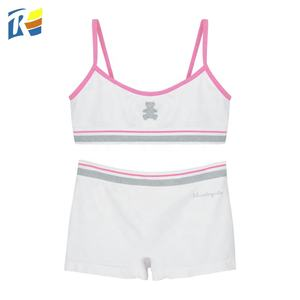 Custom Logo Seamless Children Underwear Sets Little Girl Panty Sets